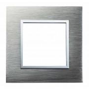 SOPIA Lichtschalter Einzelrahmen aus Edelstahl (grau-gebürstet)159307