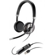 Plantronics Blackwire C720 Wired/Wireless Bluetooth Stereo Headset - Over-the-head - Supra-aural - Black