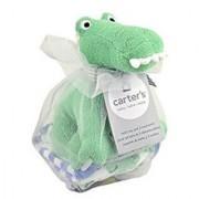 Carters Gator Bath Toy and Washcloths