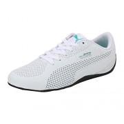 Puma Unisex Mamgp Drift Cat Ultra Puma White-Spectra Green-Puma Black Leather Sneakers - 10 UK/India (44.5 EU)