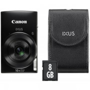 Aparat Foto Digital Canon IXUS 190 Essential Kit, 20 MP, Filmare HD, Zoom optic 10x (Negru)