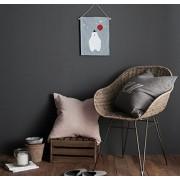 Cozymom Handmade Linen Wall Hanging BANNER Modern Wall Deco for Bedroom / Living Room / Kid Room / Baby Room (BEAR Blue :25x35 cm)