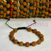 Bratara rudraksha 8mm si turmalina multicolor 4mm