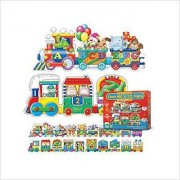 Puzzle Doubles Giant ABC & 123 Train Floor Puzzles; no. LJ-854631 by Learning Journey