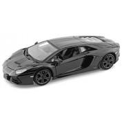 "Lamborghini Matt Black Aventador LP 700-4 1:38 5"" Pull Back Diecast Car"