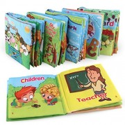 Kerocy Baby Soft Cloth Book Early Education Cloth Animals Books Infant Toy Creative Gift 6 Pack