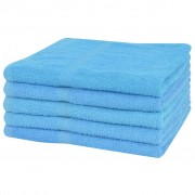vidaXL Uteráky na ruky zo 100% bavlny, 5 ks, 360 g / m², 50x100 cm, modré
