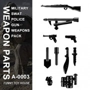 Generic Military Swat Team Guns Weapon Pack Building Blocks City Police Soldiers Figure WW2 LegoINGlys Military Army Builder Series Toys A-3