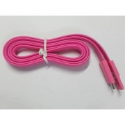 Micro USB Flat Fast Sync Fast Charging Noodle Cable For Samsung Sony LG 1M.pink