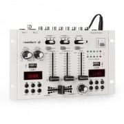 Resident DJ 22BT 2CH Mesa de mezclas DJ de 3/2 canales 2x USB 3x jack de 6,3 blanca (MD3-DJ-22 BT WH)