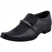 Fausto MenS Black Formal Slip On Shoes (FST K6062 BLACK)