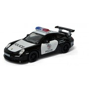 Playking Kinsmart Porsche 911 GT3 RS (Police) - 5'' Die Cast Metal * Doors Openable * Pull Back Action - Color May Vary