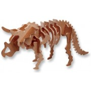 3-D Wooden Puzzle - Small Triceratops -Affordable Gift for your Little One! Item #DCHI-WPZ-J001