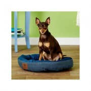 American Kennel Club Casablanca Bolster Cat & Dog Bed, Blue