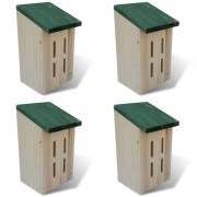 vidaXL Set de 4 maisons pour paillons 14 x 15 x 22 cm