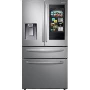 Samsung - Family Hub 22.2 Cu. Ft. 4-Door French Door Counter-Depth Fingerprint Resistant Refrigerator - Stainless steel