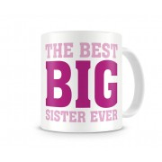 Grabadeal Beautiful White The Best Big Sister Ever Coffee Mug Gift for Raksha Bandhan