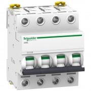 Schneider Electric, Acti9, A9F93402, Kismegszakító 4P,2A, B karakterisztika, 15 kA Acti9 IC60L (Schneider A9F93402)