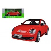 Volkswagen New With Beetle Sunroof Red 1/24 by Welly 24032
