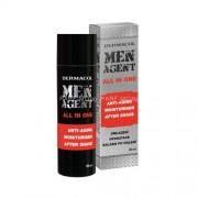 Dermacol Men Agent All In One Anti-Aging Gel-Cream 50ml Мъжка козметика за кожа за Мъже За успокояване на раздразнена от бръснене кожа