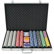 Sonata Покер комплект с 1000 лазерни чипа, алуминий