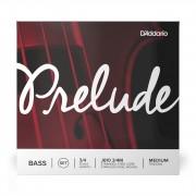 D'Addario Juego de cuerdas para contrabajo Prelude 3/4 Medium, steel core, J610