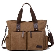 Men Canvas Outdoor Casual Traveling Large Capacity Bag