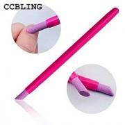 Aeoss Professional 2pcS Quartz Scrubs Stone Cuticle Pen Stick Spoon Cut Pusher Nail Manicure Care Tools