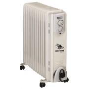 Radiator electric cu ulei Albatros RA-13T, 13 elementi, 3000 W, 3 trepte de putere, Termostat reglabil, Rotiţe pentru deplasare, Alb
