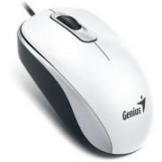 Egér, vezetékes, optikai, normál méret, USB, GENIUS DX-110 fehér (GEEDX110W)