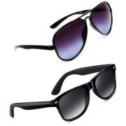 TheWhoop UV Protected Stylish Combo Wayfarer And Aviator Sunglasses For Men Women Boys Girls