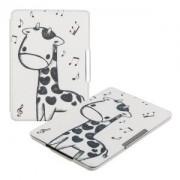 kwmobile Flipové pouzdro s designem žirafa pro Amazon Kindle Paperwhite 3 - černá