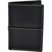 Yes Brand Co. Men Black Genuine Leather Wallet(5 Card Slots)