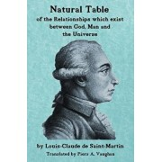 Natural Table: Natural Table of Correspondences Which Exist Between God, Man and the Universe, Paperback/Piers a. Vaughan