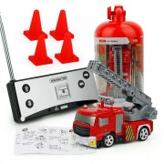 Childrens RC Fire Engine Remote Control Fire Truck With Tank/Ladder Flashing Light
