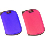 Sky Hard Disk Pouch Combo Lite Blue With Pink