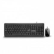 Kit teclado y mouse USB Truebasix negro TK-210, TBTK-200