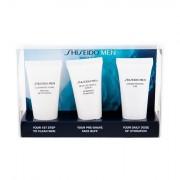 Shiseido MEN confezione regalo mousse detergente 30 ml + peeling detergente 30 ml +gel viso idratante 30 ml