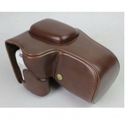 PU Leather Camera Case Bag Protector for Canon EOS 200D - Coffee