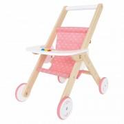 Hape Poppen buggy met dienblad 51 cm Roze