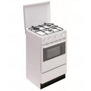 BOMPANI Cucina a Gas 48Cm 3 Fuochi Gas Valvole doppio Vetro Bianco BI910AAN