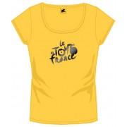 Tour De France T Shirt Dames Met Logo Geel Maat M