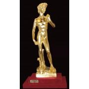"""Ръчно изработена статуетка с 22 карата златно покритие """"Давид"""" (A039)"""