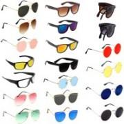 SRPM Aviator, Round, Wayfarer Sunglasses(Black, Brown, Blue, Pink, Red, Clear, Yellow, Green)