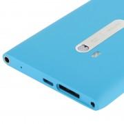 Couverture arrière de batterie de logement avec le câble de câble de bouton latéral pour Nokia Lumia 900 (bleu)