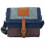 Licence 71195 Jumper Canvas Medium Shoulder Bag Navy LBF10871-BL