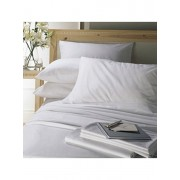 Lenjerie pentru pat matrimonial, Dormisete, Satin Dhalia, 250 x 280 cm, bumbac, Alb