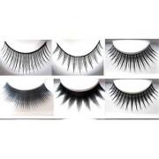 Fllik Combo of Waterproof Eyelash Glue / Adhesive and Premium Quality False Eyelashes for Women and Girls