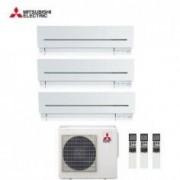 Mitsubishi CLIMATIZZATORE CONDIZIONATORE MITSUBISHI ELECTRIC TRIAL SPLIT 9+9+12 INVERTER SERIE SF 9000+9000+12000 con MXZ-3E54VA