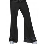 Deguisetoi Pantalon disco noir avec sequins sur le bas homme - Taille: Large
